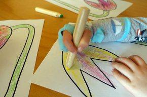 Projekt Socke Unterstützung der Stifthaltung